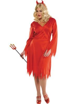 Red Hot Devil plus size Halloween costume