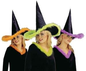 Witch Hat With Marabou Trim (5137)