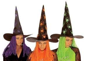 Witch Hat With Neon Hair (5122)