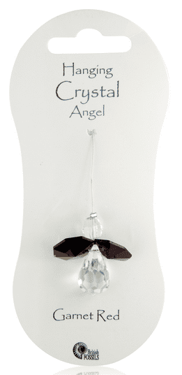 Angel Hanging Crystal - Garnet Red