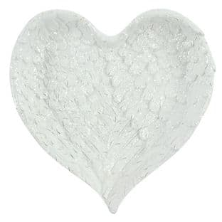 Angel Wings Heart Shaped Large Flat Trinket Dish