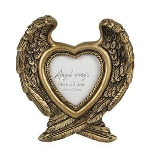 Angel Wings Photo Frame - Anitique Gold
