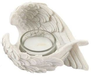 Angel Wings Tealight Holder with Glass Insert