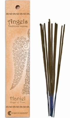 Angels Incense: Haniel - Angel of Trust - Traditional Incense Sticks by Fiore D'Oriente