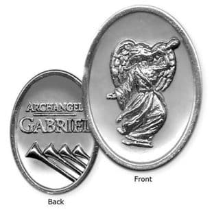 "AngelStar ""Archangel Pewter Medal Token"" Archangel Gabriel"