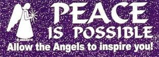 Angelstar Bumper Sticker - Peace is Possible