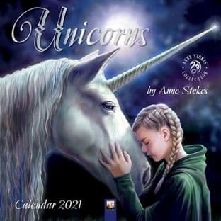 Anne Stokes - Unicorns - Wall Calendar 2021 - Reduced due to damaged corner