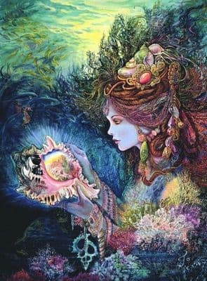 "Birthday Card ""Daughter of the Deep"" Birthday Greetings Card by Josephine Wall"