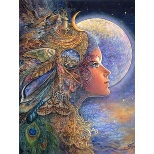"Birthday Card ""Diana"" Birthday Greetings Card by Josephine Wall"