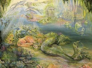 "Birthday Card ""Dreams of Atlantis"" Birthday Greetings Card by Josephine Wall (BDG45665)"