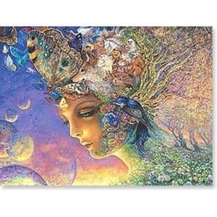 "Birthday Card ""Eternal Love"" Birthday Greetings Card by Josephine Wall"