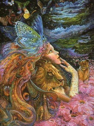 "Birthday Card ""Heart & Soul"" Birthday Greetings Card by Josephine Wall (BDG45666)"