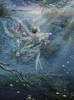 "Birthday Card ""Where Moonbeams Fall"" Birthday Card by Josephine Wall (BDG13876)"