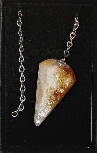 Boxed Gemstone Pendulum - Citrine (Faceted)