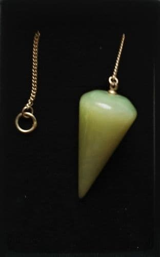 Boxed Gemstone Pendulum - Serpentine