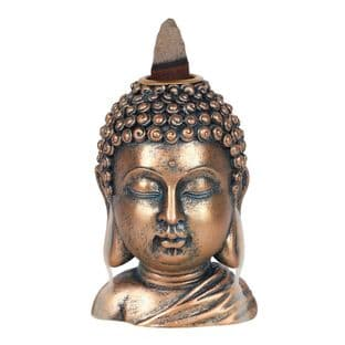 Bronze Buddha Head - Resin Backflow Incense Burner