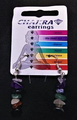Chakra Earrings - Gemstone Chip Earrings