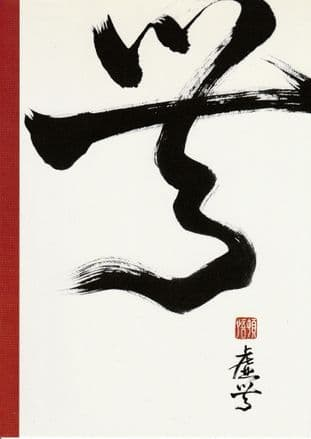 Chinese Calligraphy Blank Greetings Card - Emptiness - SALE