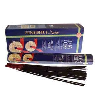 """Darshan """"Mystic Magic"""" Incense Sticks: Feng Shui Lucky Coins"""