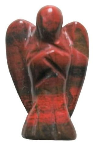 Gemstone Angel: Red Jasper 25mm (Mini)