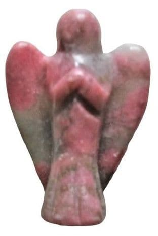 Gemstone Angel: Rhodonite 25mm (Mini)