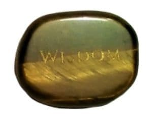 Gemstone Power Stone - Tigers Eye - Wisdom (Palm/Thumb/Worry Stone)