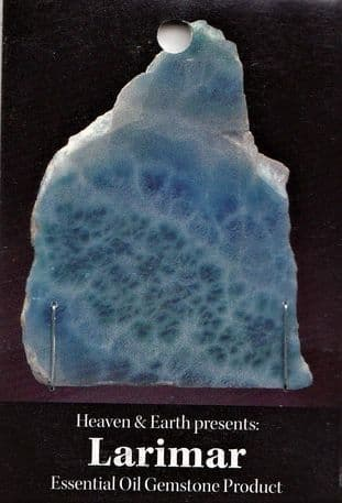 Heaven & Earth's Essential Oil Gemstone Incense Sticks: Larimar
