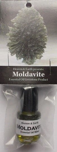 Heaven & Earth's Moldavite Gemstone Essential Oil