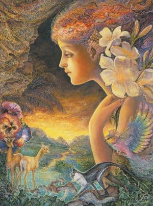 "Inspirational Card ""Random"" Inspirational Card by Josephine Wall"