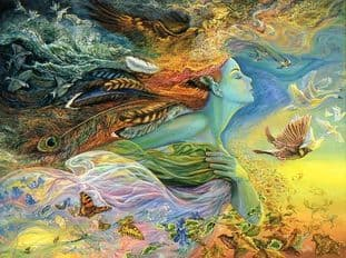 "Inspirational Card ""Spirit Of Flight"" Inspirational Card by Josephine Wall"