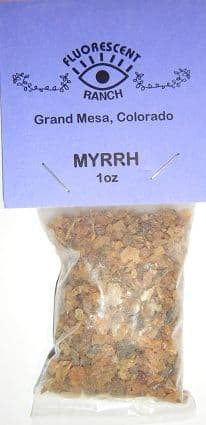 "Myrrh: Loose Resin Incense (1oz bag) by ""Fluorescent Ranch"""
