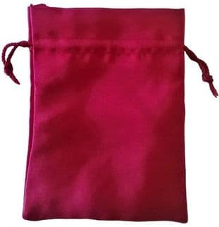 Satin Drawstring Pouch/Bag (large 9x12cm): Red