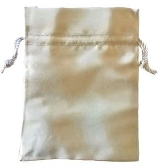 Satin Drawstring Pouch/Bag (large 9x12cm): Silver