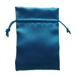 Satin Drawstring Pouch/Bag (small 6x9cm): Blue - Sky