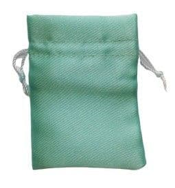 Satin Drawstring Pouch/Bag (small 6x9cm): Green - Mint