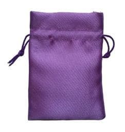 Satin Drawstring Pouch/Bag (small 6x9cm): Lilac