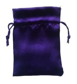 Satin Drawstring Pouch/Bag (small 6x9cm): Purple