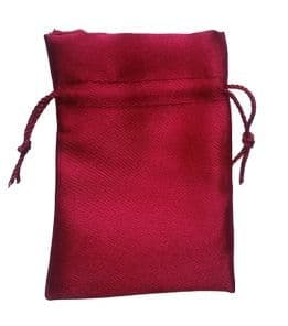 Satin Drawstring Pouch/Bag (small 6x9cm): Red