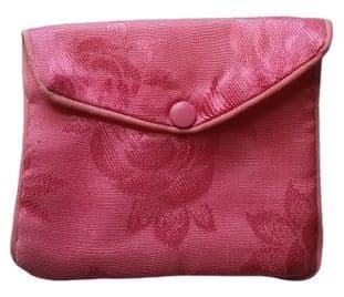Satin Press Stud Pouch (large 9x11cm): Pink - Light
