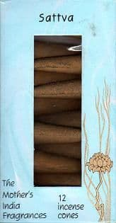 Sattva: The Mother's India Fragrances Incense 12 Cones