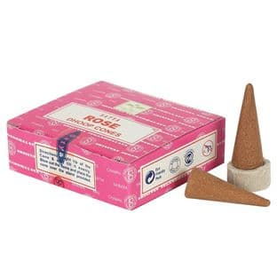 Satya Dhoop Incense Cones - Rose