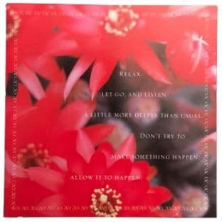 Shakti Gawain Inspirational Blank Greetings Card - Relax - SALE