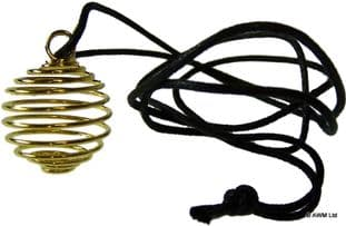 Spiral Cage Necklace: Gold
