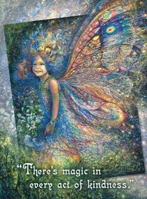 "Thank You Card ""The Forest Fairy"" Thank You Greetings Card by Josephine Wall"