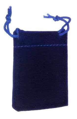 Velvet Drawstring Pouch/Bag (small 5x7cm): Navy