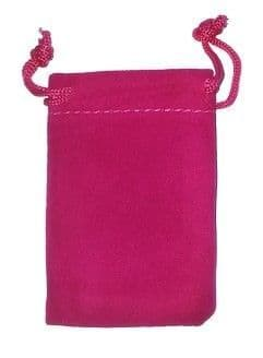 Velvet Drawstring Pouch/Bag (small 5x7cm): Pink