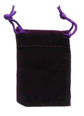 Velvet Drawstring Pouch/Bag (small 5x7cm): Purple