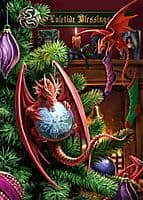 "Yuletide Magic Yule Card ""Little Helpers"" (AN28) by Anne Stokes"