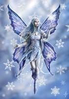 """Yuletide Magic Yule Card """"Snowflake Fairy"""" (AN10) by Anne Stokes"""