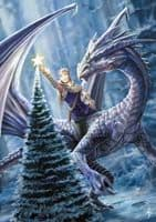 "Yuletide Magic Yule Card ""Winter Fantasy"" (AN13) by Anne Stokes"